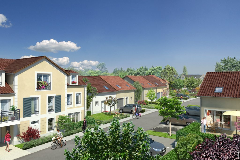 Programme immobilier neuf appartement vaureal les for Piscine vaureal