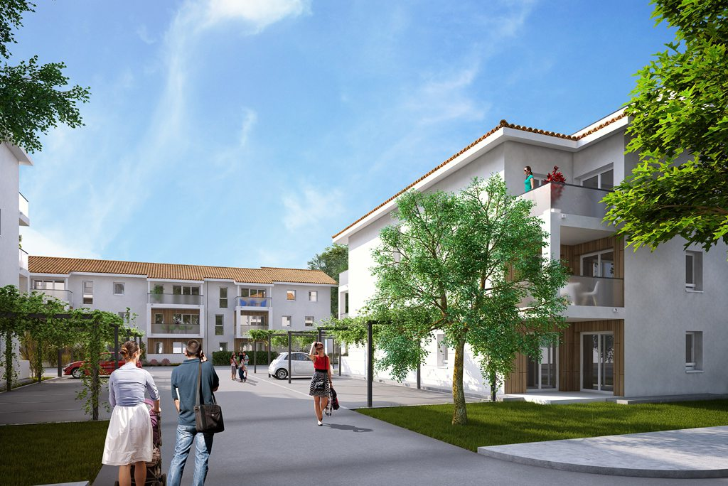 Programme immobilier neuf appartement st vincent de for Papeterie saint vincent de tyrosse