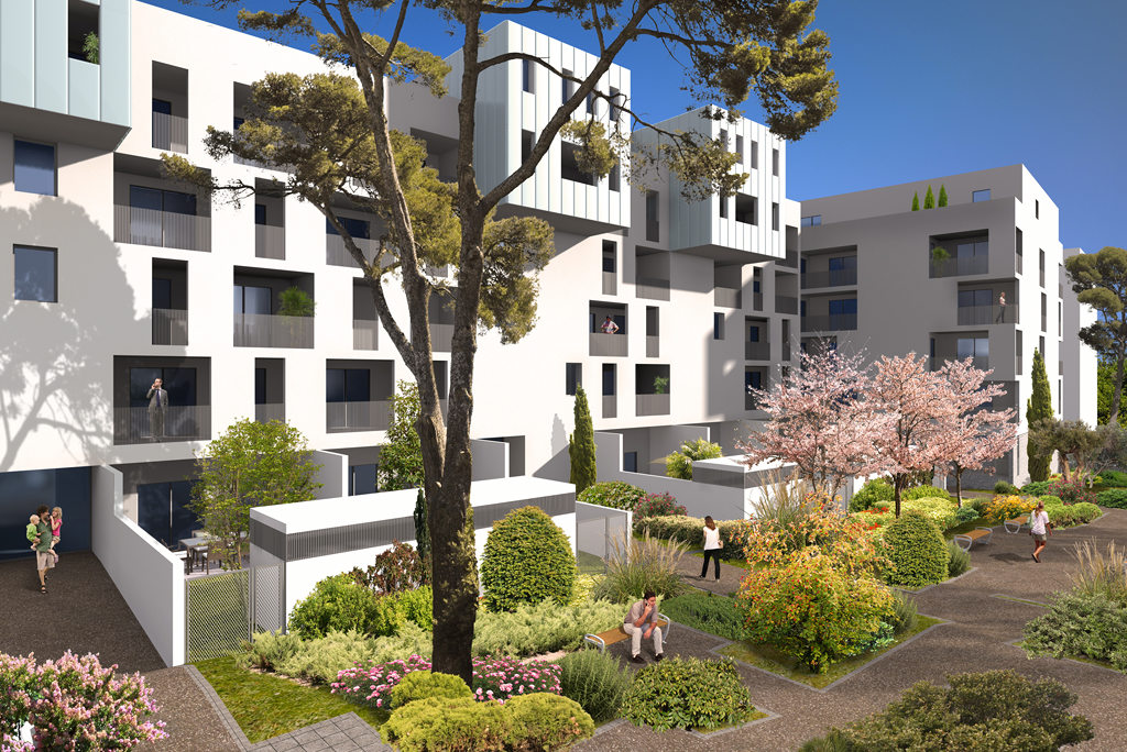 Programme immobilier neuf so white montpellier appartement for Immobilier neuf deja construit