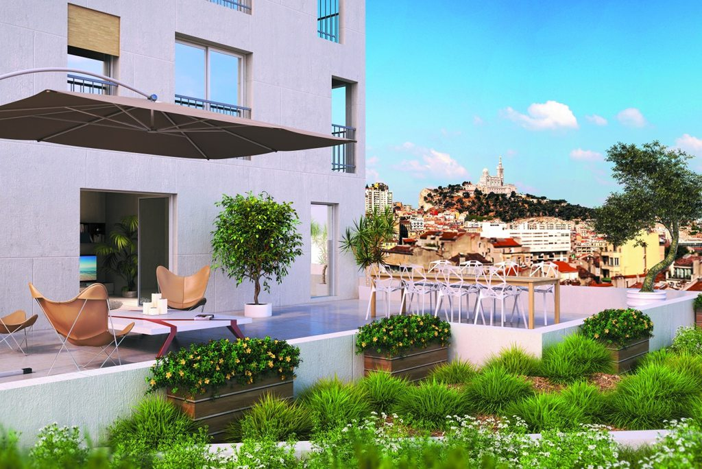 Programme immobilier neuf appartement marseille 6 la for Immobilier neuf deja construit